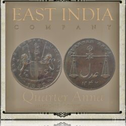 1832  1/4 Quarter Anna Coin East India Company - RARE COIN