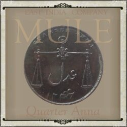 1832  1/4 Quarter Anna Coin East India Company  Mule - RARE COIN