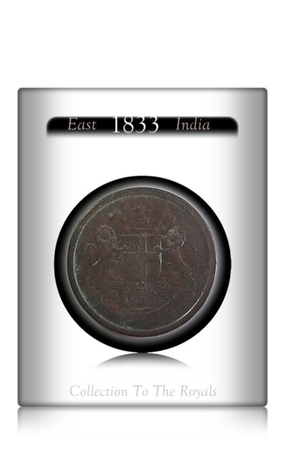 1833 East India Company PIE Copper Coin