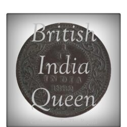 1862 1/12  Twelve Anna British India Queen Victoria Coin