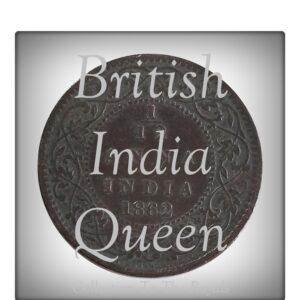 1862 1/12 Twelve Anna British India Queen Victoria Coin