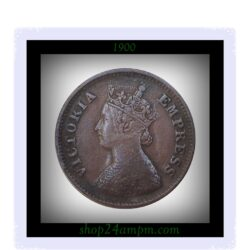 1900 1/2 Half Pice Coin British India Queen Victoria