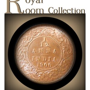 1906 1/12Twelve Anna British IndiaKing Edward VII Class Copper Coin