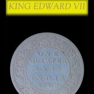 1909 1/4 Quarter Anna British India King Edward VII