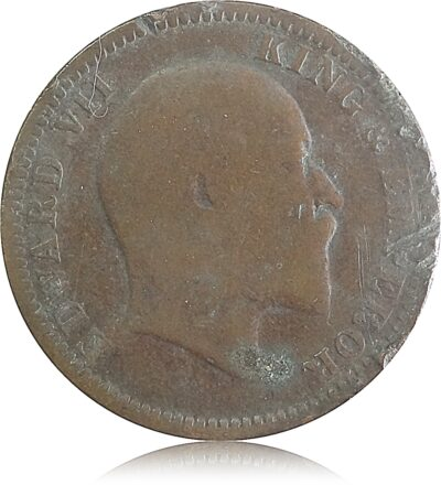 1910  1/4 Quarter Anna British India King Edward VII