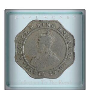 1919 4 Annas British IndiaKing George V