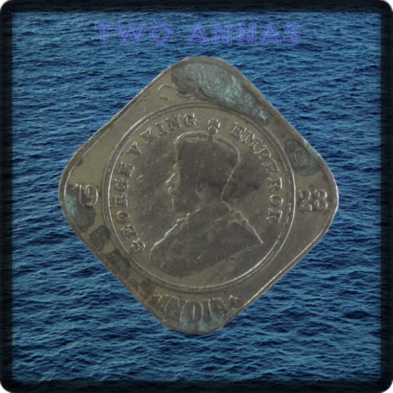 1928 Two Annas Coin British India King George V