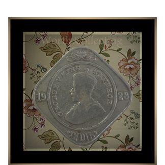 1928 2 Annas Coin British India King George V