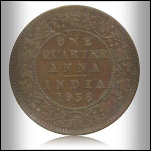 1936 1/4 Quarter Anna Coin British India King George V Bombay Mint – Best Buy