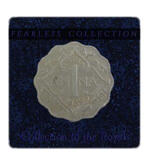 1939 One Anna Coin British India King George VI