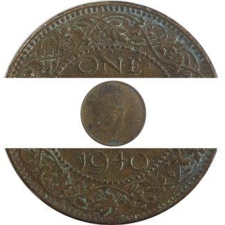 1940 1/4 Quarter Anna British India King George VI - Best Buy