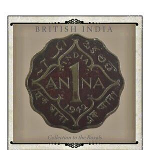 1942 1 Anna Coin British India King George VI1942 1 Anna Coin British India King George VI1942 1 Anna Coin British India King George VI