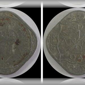 1947 1/2 Half Anna King George VI