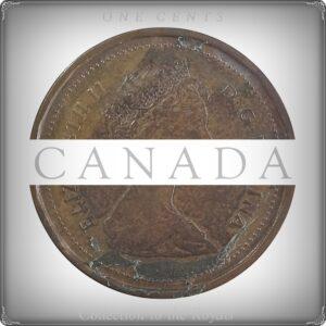 1985 Queen Elizabeth II 1 Cent Canada Coin