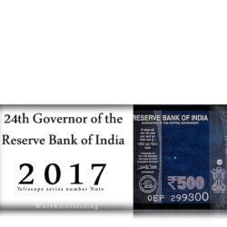 2017 Telescope 500 Rupee UNC Note Sign by Urjit Patel - RARE