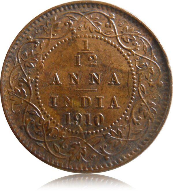 1910 1/12Twelve Anna British IndiaKing Edward VII