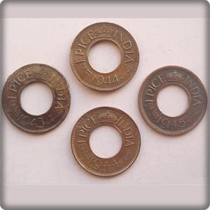 1943 1944 1945 - 1 pice 4 coins - Best Buy Worth Buying Calcutta & Bombay mints