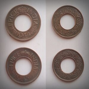 1944 1945 1 PICE 2 COINS Worth