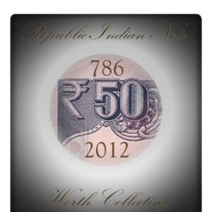 "50 Rupee UNC Note D Subbarao Ending Number ""786"""