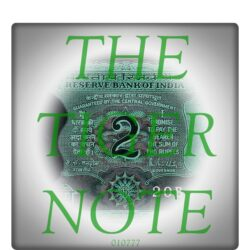 B-22 2 Rupee Note Sign by R N Malhotra Best Price Value