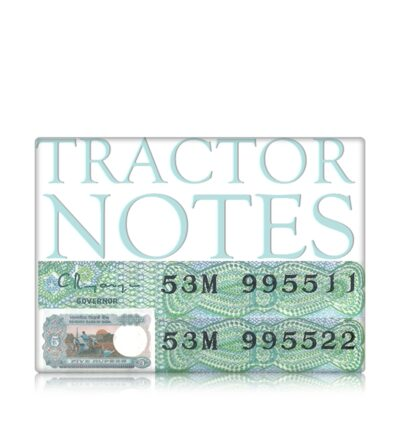 5 Rupee Old Tractor Note Semi Fancy Number Double Digit Collection Value