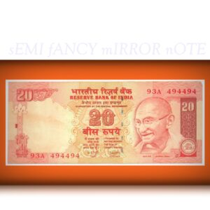 2007 E-23 20 Rupee Note Sign by Dr Y V Reddy
