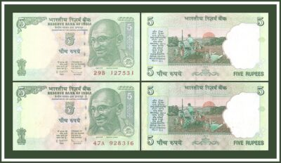 C-42 2010 5 Rupee Note Sign by D SubbaraoBest Price Value