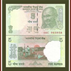 C-40 2009 5 Rupee Note E inset Sign by D Subbarao
