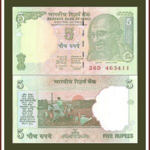 C-42 2009 5 Rupee UNC Note L Inset Sign by D Subbarao