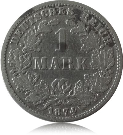1874 1 Mark Deutschland J9 1 Mark H BU,Prachtstuck Mit Alter Patina
