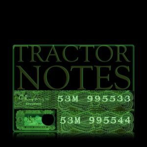 C-32 5 Rupee Old Tractor Note Semi Fancy Number