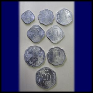 1965 1969 1971 1979 1986 1987 1991 1 Paisa 2 Paise 3 Paise 5 Paise 10 Paise 20 Paise - 9 Coins - Worth Collecting