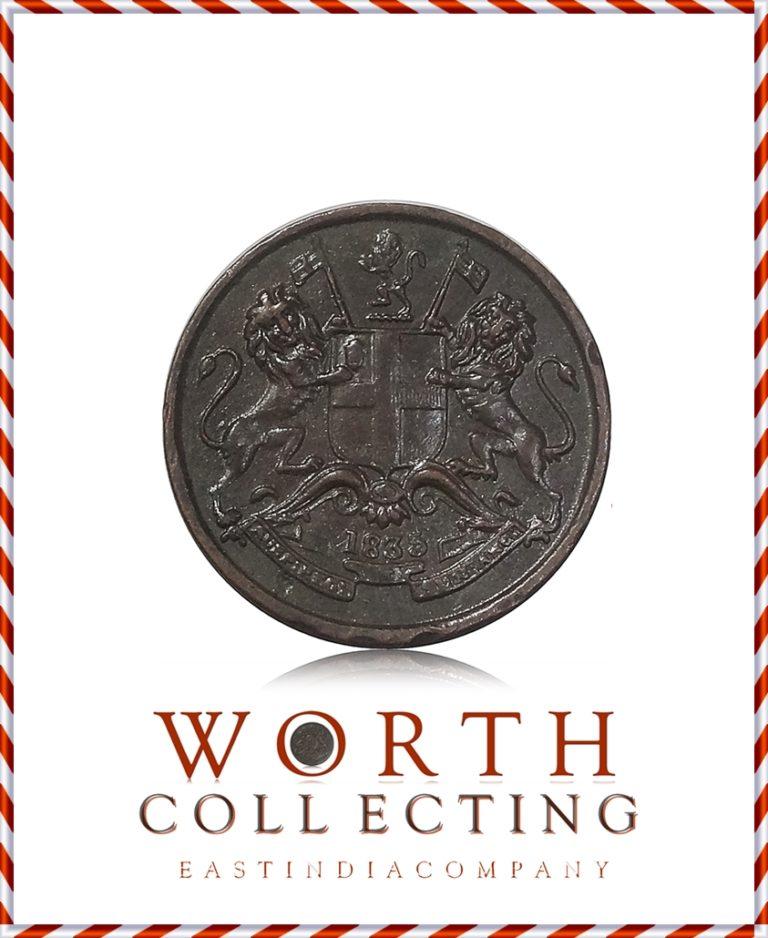 1835 1/12 Twelve Anna East India Company – RARE