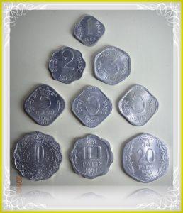 1965 1967 1971 1975 1982 1986 1989 1991 1 Paisa 2 Paise 3 Paise 5 Paise 10 Paise 20 Paise - AUNC 9 Coins