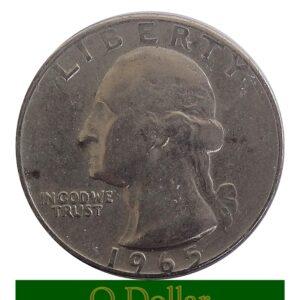 1965 Quarter Dollar D Washington United States of America