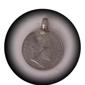 1907 2 Annas - King Edward VII - with Locket Ring