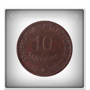 1959 10 Centavos - Republica Portuguesa -Estado Da India Coin