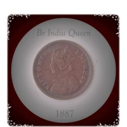 1887  1/12 Twelve Anna Coin British India Queen Victoria  Empress