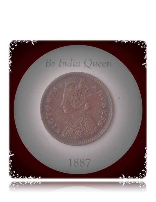 1887 1/12 Twelve Anna Coin British India Queen Victoria Empress