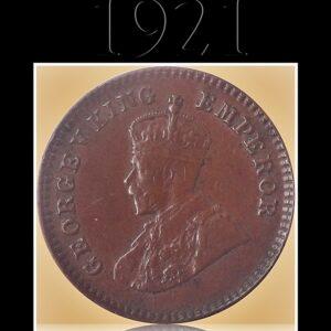 1921 1/12 Twelve Anna British India King George V