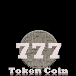 777 Old Vintage Tripple Seven  Token Coin