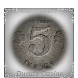5 Ducats - Big Token Coin Old Vintage Collection