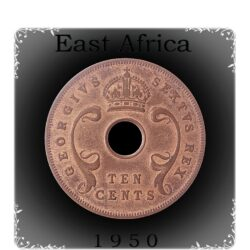 1950 EAST AFRICA, George VI, 10 Cents