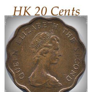 1979 20 Cents Hong Kong Coin Queen Elizabeth II