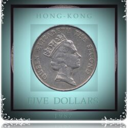 1987 5 Five Dollars - Hong Kong Coin