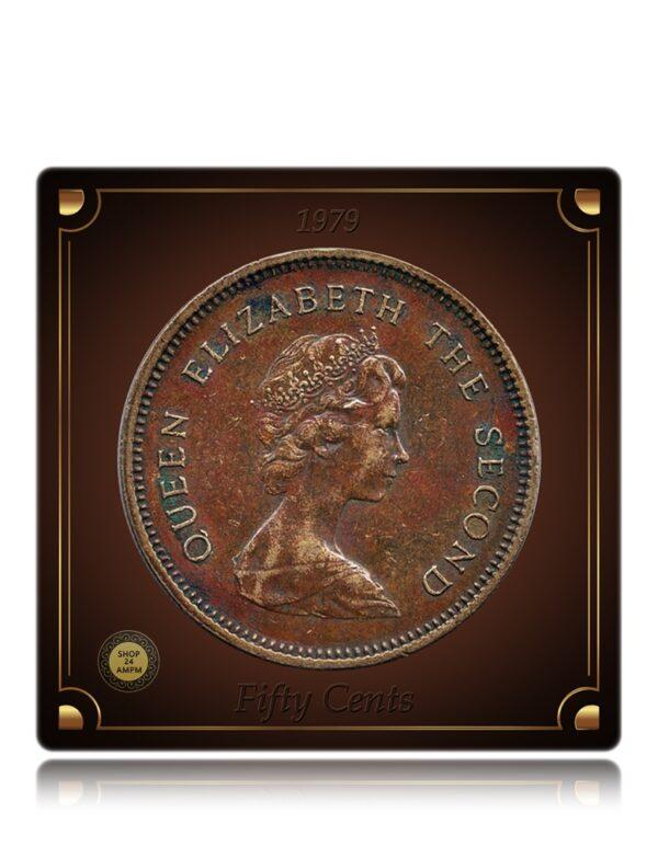 1979 50 Cents Queen Elizabeth The Second Hong-Kong