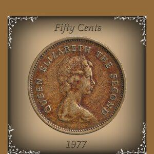 1979 50 Cents Queen Elizabeth The Second Hong - Kong