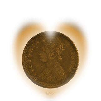 1886 1/12 Twelve Anna Queen Victoria Empress British India