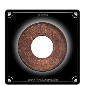 1945 1 Pice UNC Condition Hole Coin British India King George VI