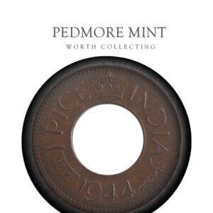 1944 1 Pice Hole Coin British India King George VI